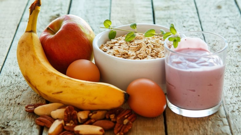 Health fruit and oats