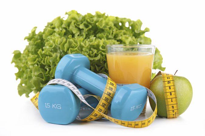 Weights, lettuce & juice