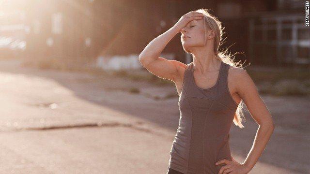 Girl after run